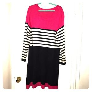 Fit and flair sweater dress